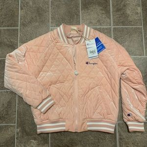 Champion Velour Bomber Jacket Reverse Weave